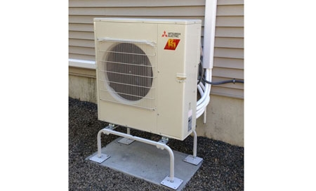Mitsubishi ductless air conditioning unit by Preferred Air..
