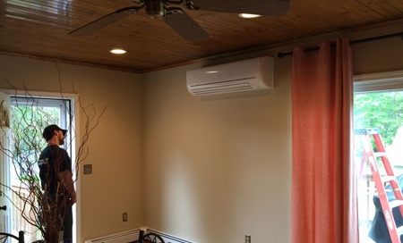 Ductless air conditioning unit image.