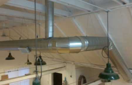 Preferred Air creates artistic industrial duct work.
