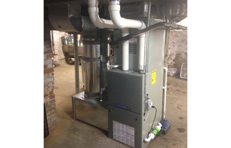 Furnace installation by Preferred Air..